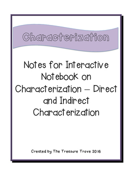 Direct and Indirect Characterization for Interactive Notebook