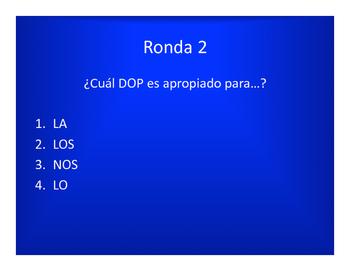Spanish Direct and Indirect Object Pronoun Olympics