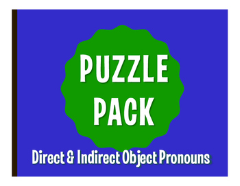 Spanish Direct and Indirect Object Pronoun Puzzle Pack