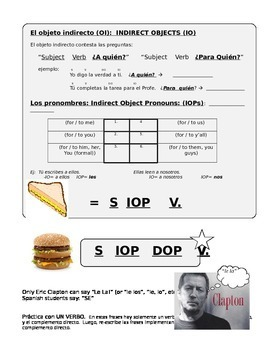 Direct and Indirect Object Pronouns in Spanish