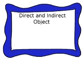 Direct and Indirect Object Task Cards