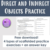 Direct and Indirect Objects Mini Packet