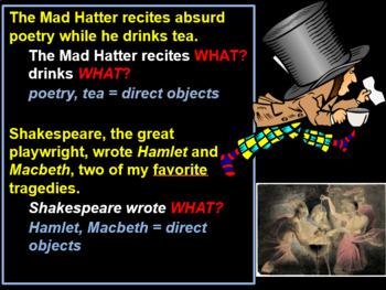 Direct and Indirect Objects; Predicate Adjectives and Nominatives -- PowerPoint!