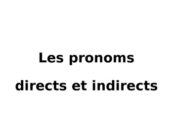 Direct and Indirect Pronouns Review with Timed-limited Slides