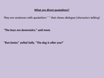 Direct and Indirect Quotations