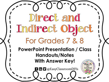 Direct and Indirect Teaching PowerPoint/Student Handouts/Notes