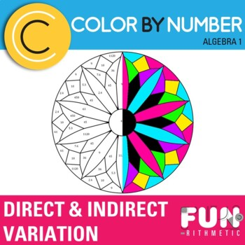 Direct and Inverse Variation Color by Number