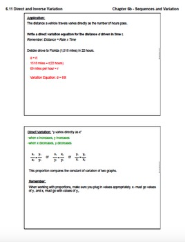 Direct and Inverse Variation (Lesson Plan with Homework)