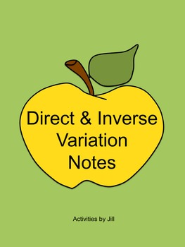 Direct and Inverse Variation Notes