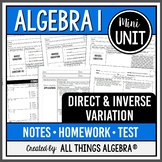 Direct and Inverse Variation (Algebra 1 Curriculum - Mini Unit)