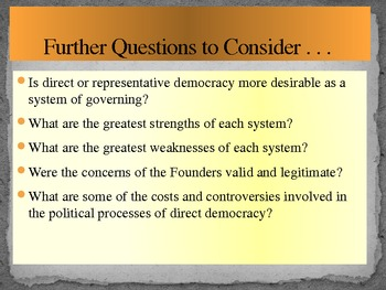 Direct and Representative Democracy- A Conflict of Governmental Systems