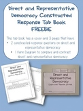 Direct and Representative Democracy Constructed Response T