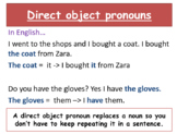 Direct object pronouns and LA ROPA topic