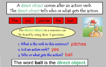 Direct or Indirect Object SMARTBoard Activities