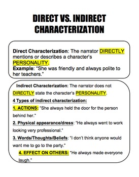 Direct vs. Indirect Characterization Guided Notes