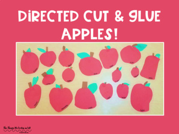 Directed Cut & Glue  - Apples!