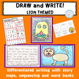 Directed Draw and Differentiated Writing Activity LIONS