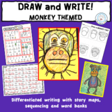 Directed Draw and Differentiated Writing Activity MONKEYS