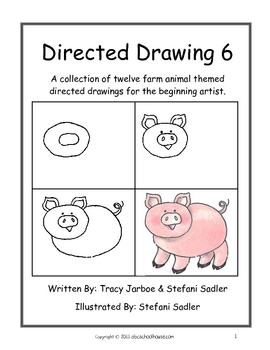 Image of: Step Teachers Pay Teachers Directed Drawing 6 Farm Animals By Abc Schoolhouse Tpt