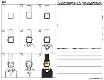 Directed Drawing - ABRAHAM LINCOLN