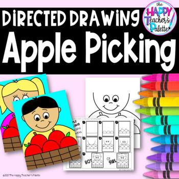 Directed Drawing ~ Apple Picking ~ Boy and Girl~