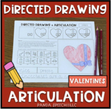 Directed Drawing Articulation: Valentines Theme Speech Therapy
