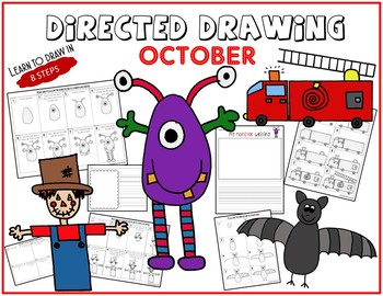 Directed Drawing - August-September-October Themed Bundle