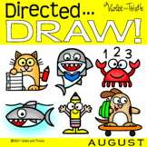 Directed Drawing Back to School First Day Shark Week Augus