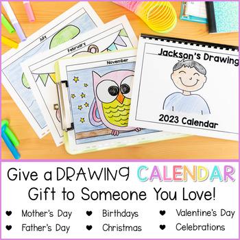 Directed Drawing Calendar Parent Gift [Includes 2019-2021 + EDITABLE calendar]