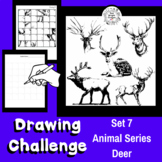 Art Lesson - Directed Drawing Challenge: Series 7 Elk