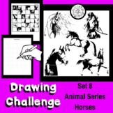 Art Lesson - Directed Drawing Challenge: Series 8 Horses