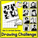 Directed Drawing Art Lesson: Challenge Set 3 Famous Artists