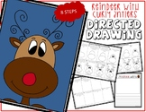 Christmas REINDEER WITH CURLY ANTLERS - Directed Drawing
