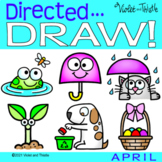 Directed Drawing Easter Earth Day Spring April Kid Learn H