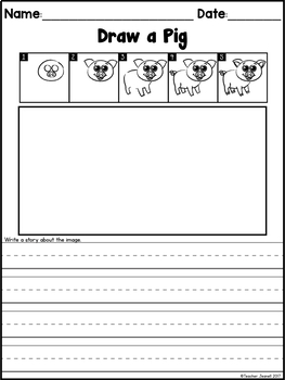 Directed Drawing Farm Animals