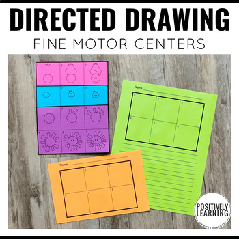 Directed Drawing Fine Motor Activities Center