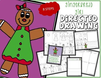 Directed Drawing - Christmas GINGERBREAD GIRL