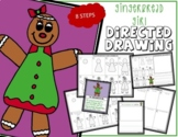 Christmas GINGERBREAD GIRL Directed Drawing & Writing Prompts