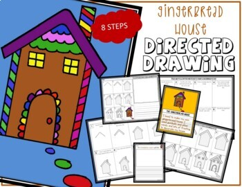 Directed Drawing , Christmas GINGERBREAD HOUSE