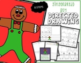 Christmas GINGERBREAD BOY Directed Drawing & Writing Prompts