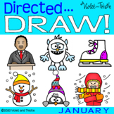 Directed Drawing Winter January {Draw Martin Luther King Jr} Step by Step Guide