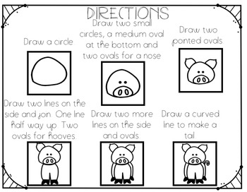 Directed Drawing: How to Draw a PIG