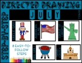 Directed Drawing - July Themed Bundle (4th of July Indepen