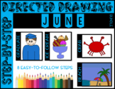 Directed Drawing - June Themed Bundle (Graduation, Ice Cre
