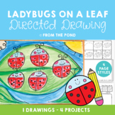 Directed Drawing - Ladybugs on a Leaf