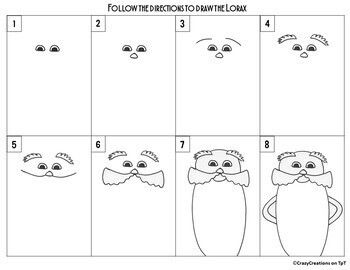 Directed Drawing - Dr. Seuss' Day LORAX