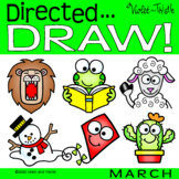 Directed Drawing March How to Draw Spring Winter Step by Step Guide Activity