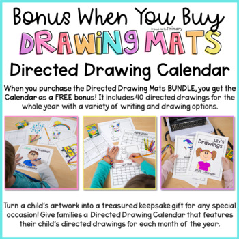 How to Draw Directed Drawing Mats Bundle  | Distance Learning