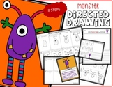 Cute Halloween MONSTER Directed Drawing & Writing Prompts