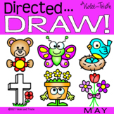 Directed Drawing Flower Butterfly Mother Memorial Day Spring How to Draw Step by